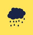rainy cloud icon vector image vector image