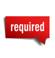 required red 3d speech bubble vector image vector image