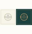 restaurant logo design forks vector image vector image