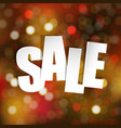 sale poster with bokeh vector image