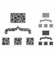 scheme composition icon rough elements vector image vector image