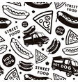 seamless pattern for street food festival vector image