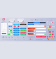 set elements for interface universal ui ux vector image