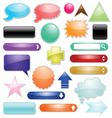 set glossy icon for web vector image