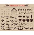 Set of aeronautics labels templates vector image