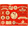 Set of Christmas vintage labels vector image vector image