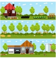 set of gardening harvesting and vector image