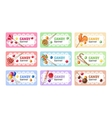 Set of sweet lollipop banners vector image