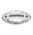 sketch of a football ball vector image vector image