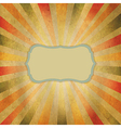 Square Shaped Sunburst vector image vector image
