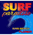 t-shirt surf paradise vector image vector image