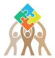 Teamwork Puzzle Logo vector image vector image