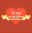 valentine background theme vector image vector image