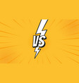 versus vs sign with lightning bolt isolated vector image