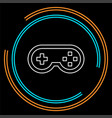 video game controller icon - joystick game play vector image