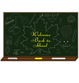 welcome back to school background with school vector image