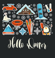 winter sport and outdoor activity extreme resort vector image