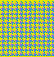 yellow and blue houndstooth seamless pattern black vector image