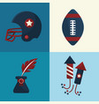 set american tradition elements icons vector image