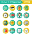 Modern flat shopping icons Colorful design vector image