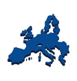 europe map silhouette icon vector image