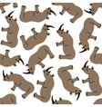 seamless rhino pattern vector image