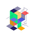 abstract colorful geometric isometric shape vector image vector image