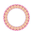 abstract colorful geometrical floral round wreath vector image vector image