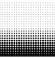 abstract halftone seamless border vector image