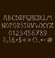 alphabet and numbers bones dia de los muertos vector image vector image