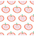 apple slice background seamless pattern vector image