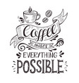 banner with coffee cup and quote vector image vector image