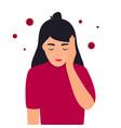 basic rgbcovid-19 coronavirus symptoms headache vector image vector image
