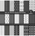 Big Set of black white Pattern1 vector image vector image