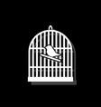 birdcage icon flat vector image vector image