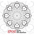 Black and white geometric mandala background vector image vector image