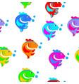 cartoon colorful fish vector image vector image