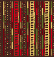 christmas seamless stripe pattern with nordic vector image vector image