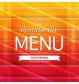 Color Restaurant Menu Design vector image vector image