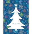 colorful doodle snowflakes Christmas tree vector image vector image