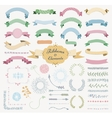 Colorful Hand Drawn Design Elements and vector image vector image