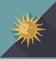 combination of sun moon and star with face vector image