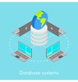 Concept for online database systems vector image vector image
