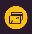 credit card icon pictogram vector image