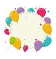 cute balloons air party card vector image