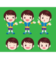 cute boy actions vector image vector image