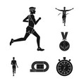 design of health and fitness symbol set of vector image
