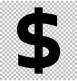 dollar sign isolated on transparent background vector image vector image