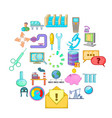 economy icons set cartoon style vector image vector image