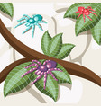 exotic insect isometric background vector image vector image